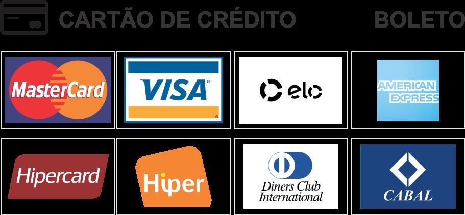 Cartões de Crédito e Boleto